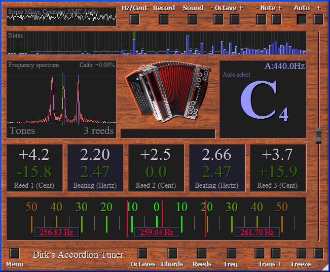 Dirk's professional Accordion Tuner v2.3