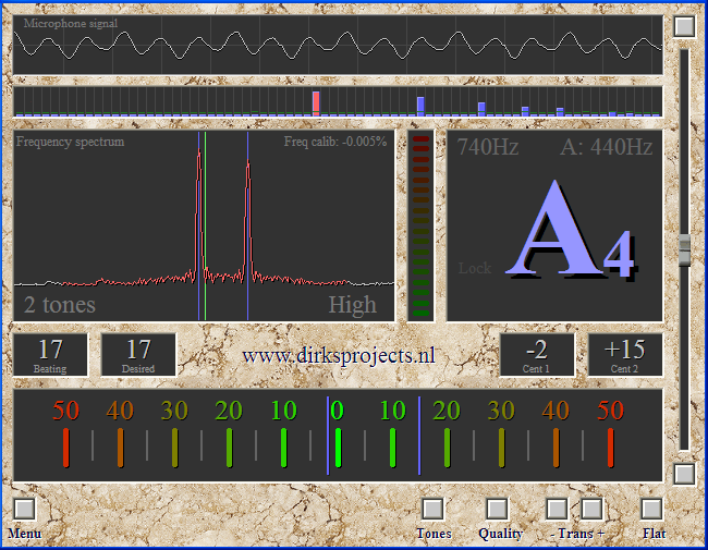 Chromatic Instrument Tuner v1.3